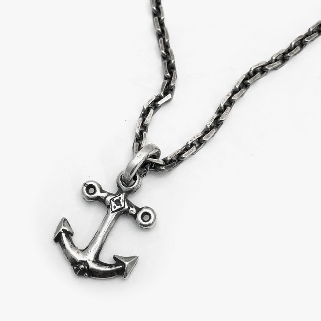 [세트할인] x7x series Necklace with Small Anchor Pendant Set