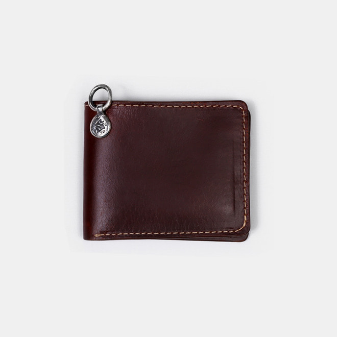 575 Leather Wallet #043 Billfold Horse Strips Special brown
