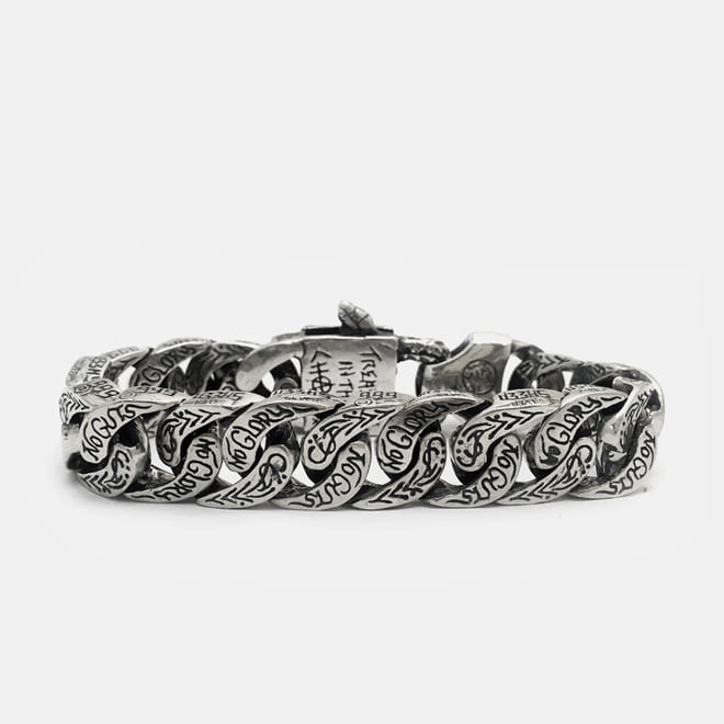 No Guts No Glory Bracelet Snake Buckle