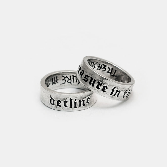 Custom Script Silver Ring