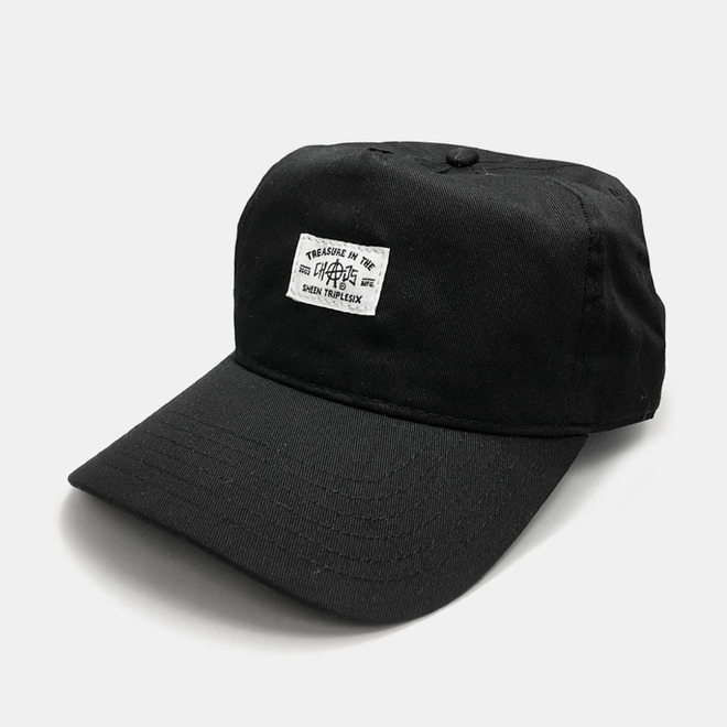 Chaos Label 5 Panel Cap black