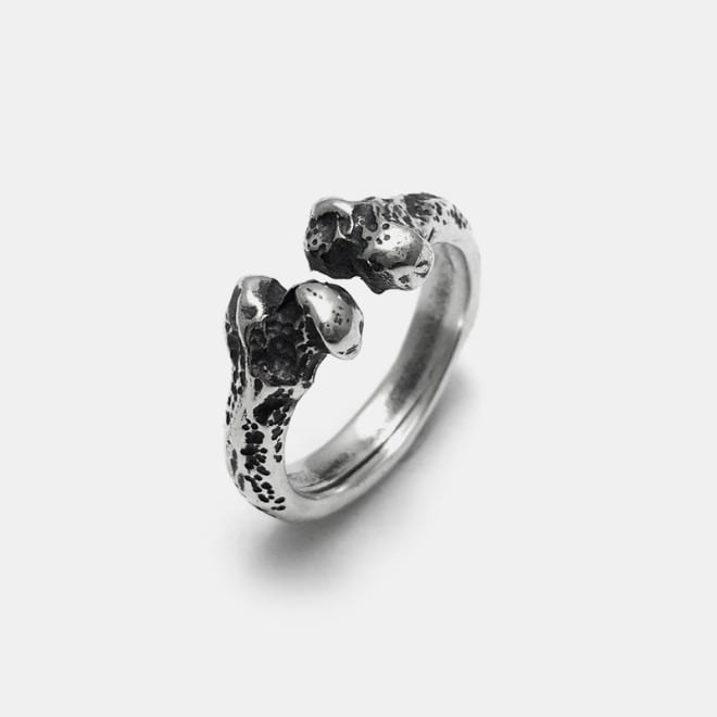 Bone Open Silver Ring