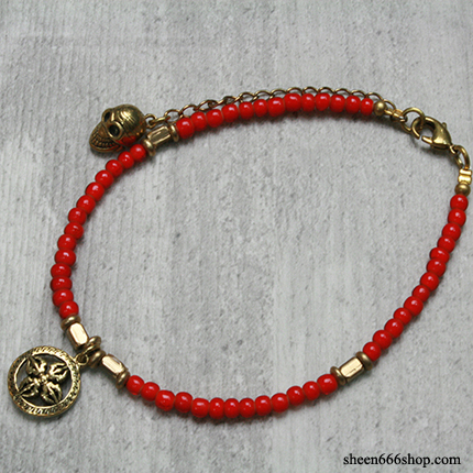 Anklet Red Beads