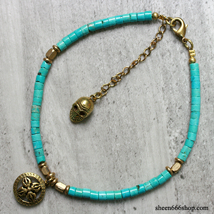 Anklet Turquoise