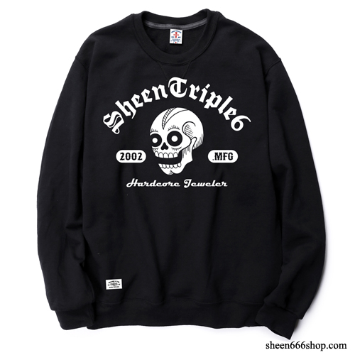 Varsity Logo Crewneck Sweat Shirts black