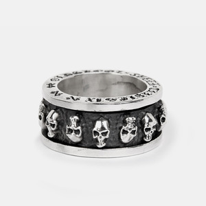 [Studio Edition] Skull Spinner Silver Ring Mid Size