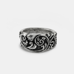Fileteado Silver Ring