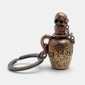 Poison Bottle Brass KeyChain_New Version
