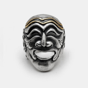 Mask Silver Ring