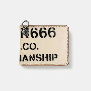 575 Leather Wallet #039 BF Craftmanship Stencil milk