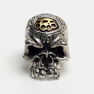 Graffiti Big Skull Rings with 14k Gold