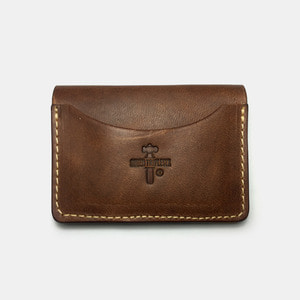575 #057 STND Card Holder Horse Leather dust brown