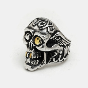 H.F.K Skull Ring With Brass Eye Edition