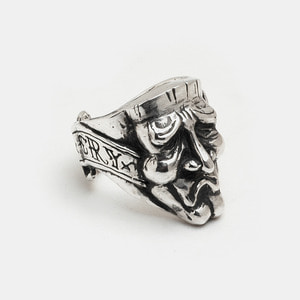 Cry Mask Ring Silver Ver