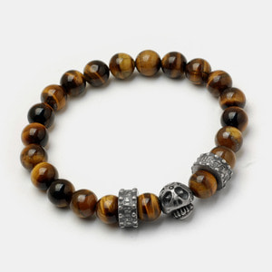 Magic Mushroom Beadz Bracelet - Tiger eye