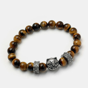 Crazy Cat Beadz Bracelet - Tiger eye