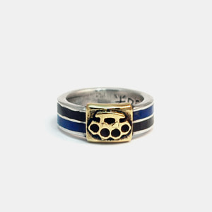 Brass Knuckle Enamel Ring Combi
