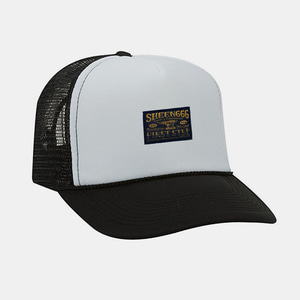 [예약할인] OG Label Mesh Trucker Cap by OTTO Cap black/white