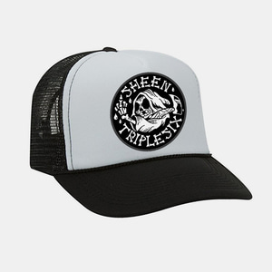 [예약할인] Reaper Patch Mesh Trucker Cap by OTTO Cap black/white