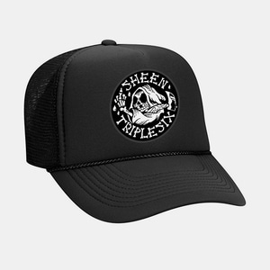 [예약할인] Reaper Patch Mesh Trucker Cap by OTTO Cap black/black