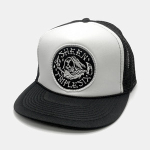 Reaper Patch Mesh Trucker Cap by OTTO Cap black/white