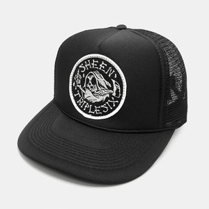 Reaper Patch Mesh Trucker Cap by OTTO Cap black