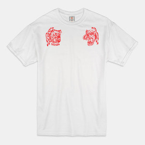 [예약할인 20%] Angry Animals T-Shirts white/red