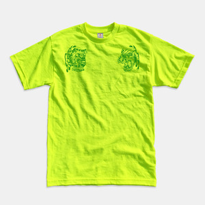 Angry Animals T-Shirts safety green