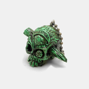 Pain Skull Resin KeyChain_Green