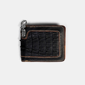 575 Leather Wallet #026 BF horse hide_caiman