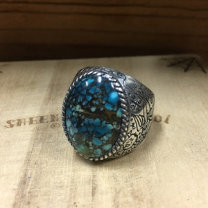 Sparrow Turquoise Silver Ring 19호
