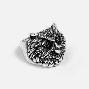 Custom Owl Silver Ring