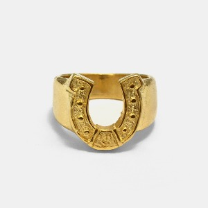 Horse Shoe Gold Ring