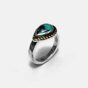 Turquoise OneOff Custom Ring #001 17.5호