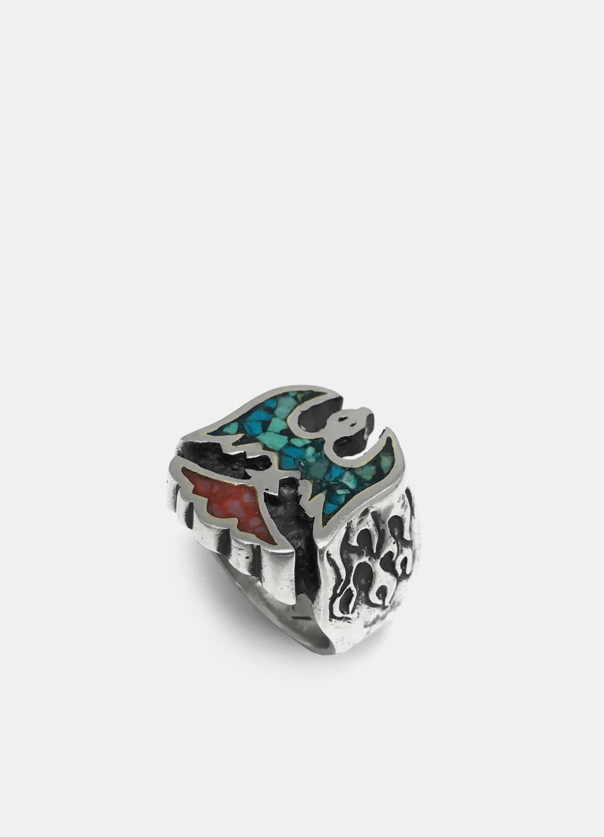 Firebird Inlay Silver Ring Big
