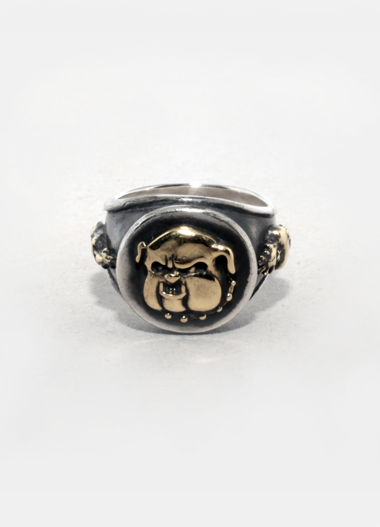 Bulldog thin ring_brass combi