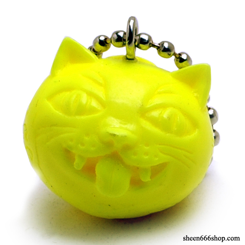 Crazy Cat Resin KeyChain_Yellow