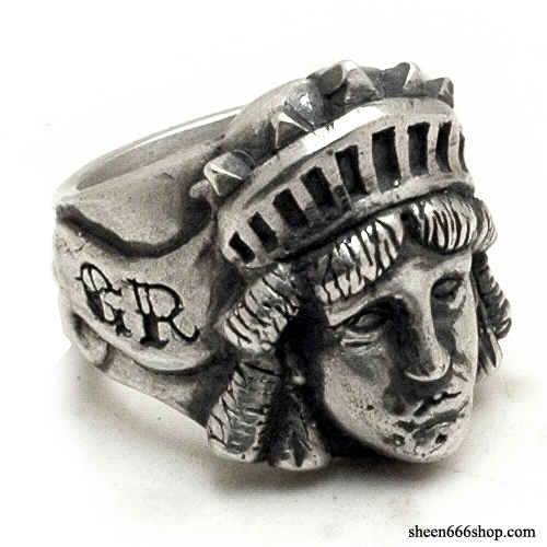 Statue of Liberty Custom Silver Ring