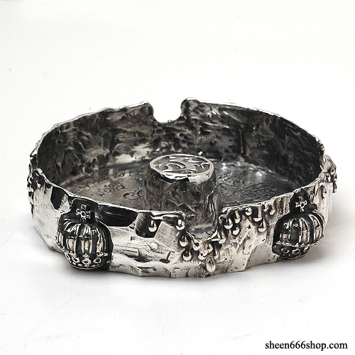 Crown Cutting Silver Ash Tray