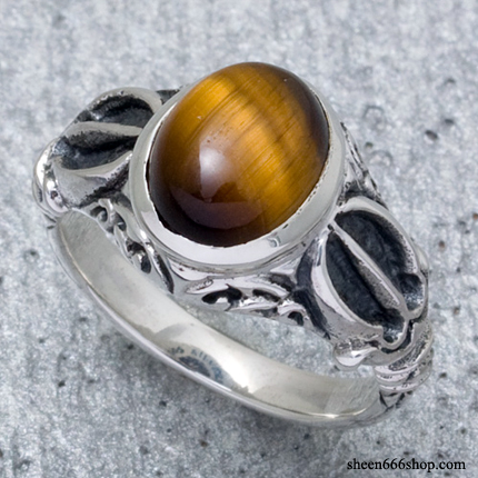Dorje Ring S-Tiger Eye