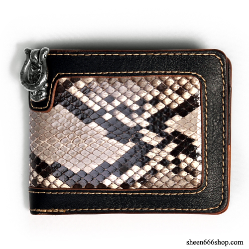 575 Leather Wallet #027 BF SE Cow hide_Python