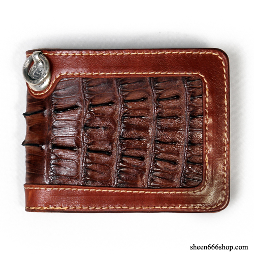575 Leather Wallet #028 BF SE Cow hide_Caiman