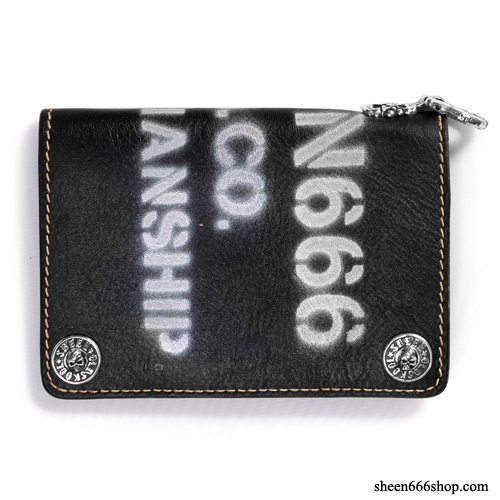 575 Leather Wallet #037 Craftmanship Stencil black