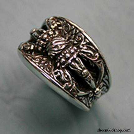 Tibetan Dorje Dragon Ring