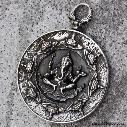 Ganesha Coin Medal Top