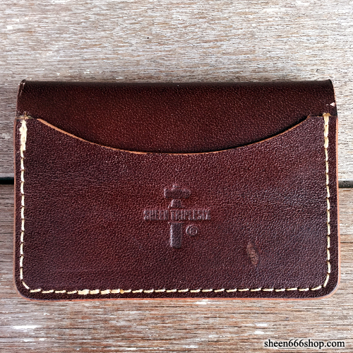 575 #053 LTD Card Holder Cow Leather dark brown/natural