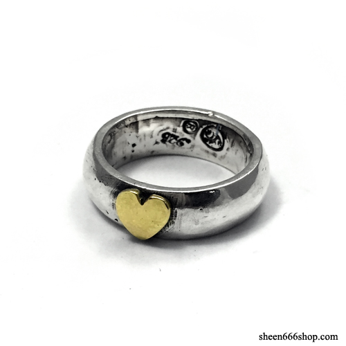 Trump Series Bold Ring Brass Heart