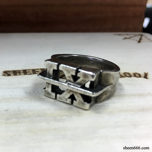 [STOCK -40%] IX Crew X TripleSix Collaboration Silver Ring 12호