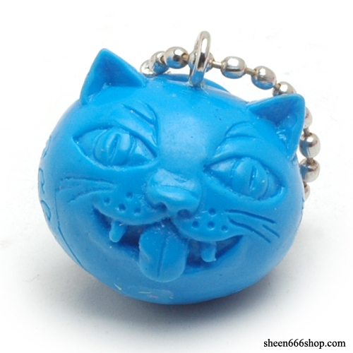 Crazy Cat Resin KeyChain_Blue