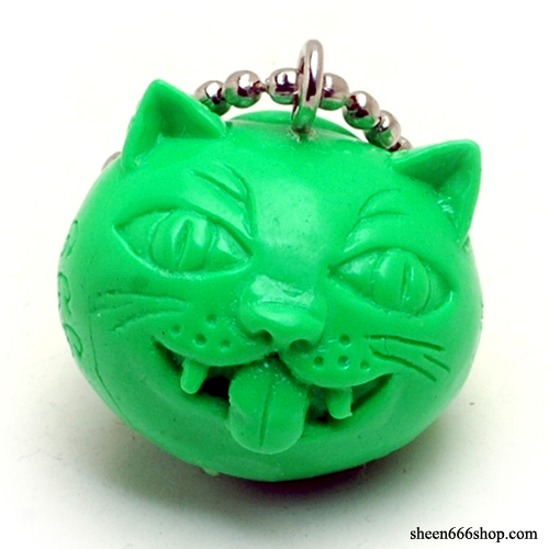 Crazy Cat Resin KeyChain_Green